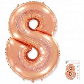 """Фигура """"8""""  (40""""/102 см) розовое золото, в упаковке"""