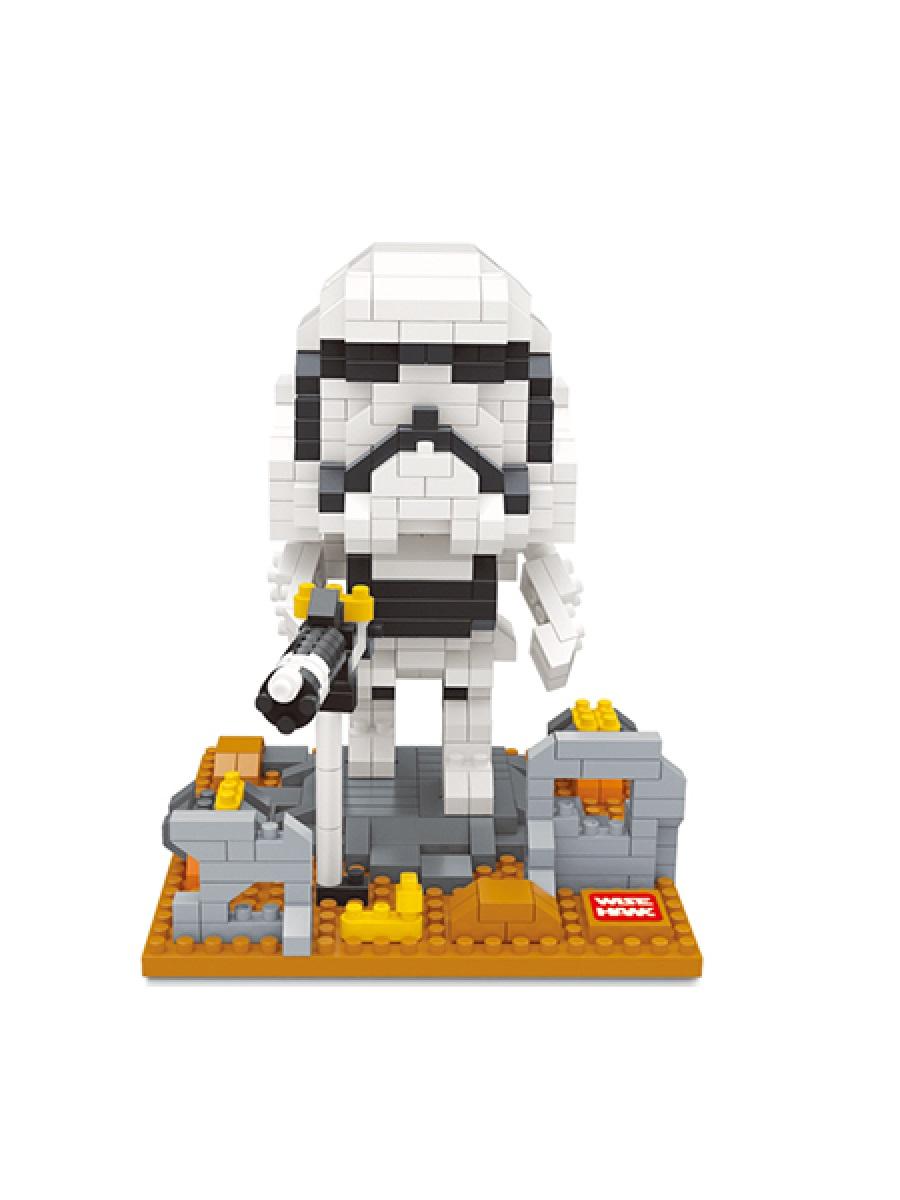 Конструктор Wisehawk & LNO Имперский штурмовик 522 деталей NO. 2405 Imperial Stormtrooper mini blocks