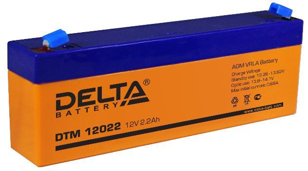 Батарея аккумуляторная Delta 12B 2.2Ач DTM 12022