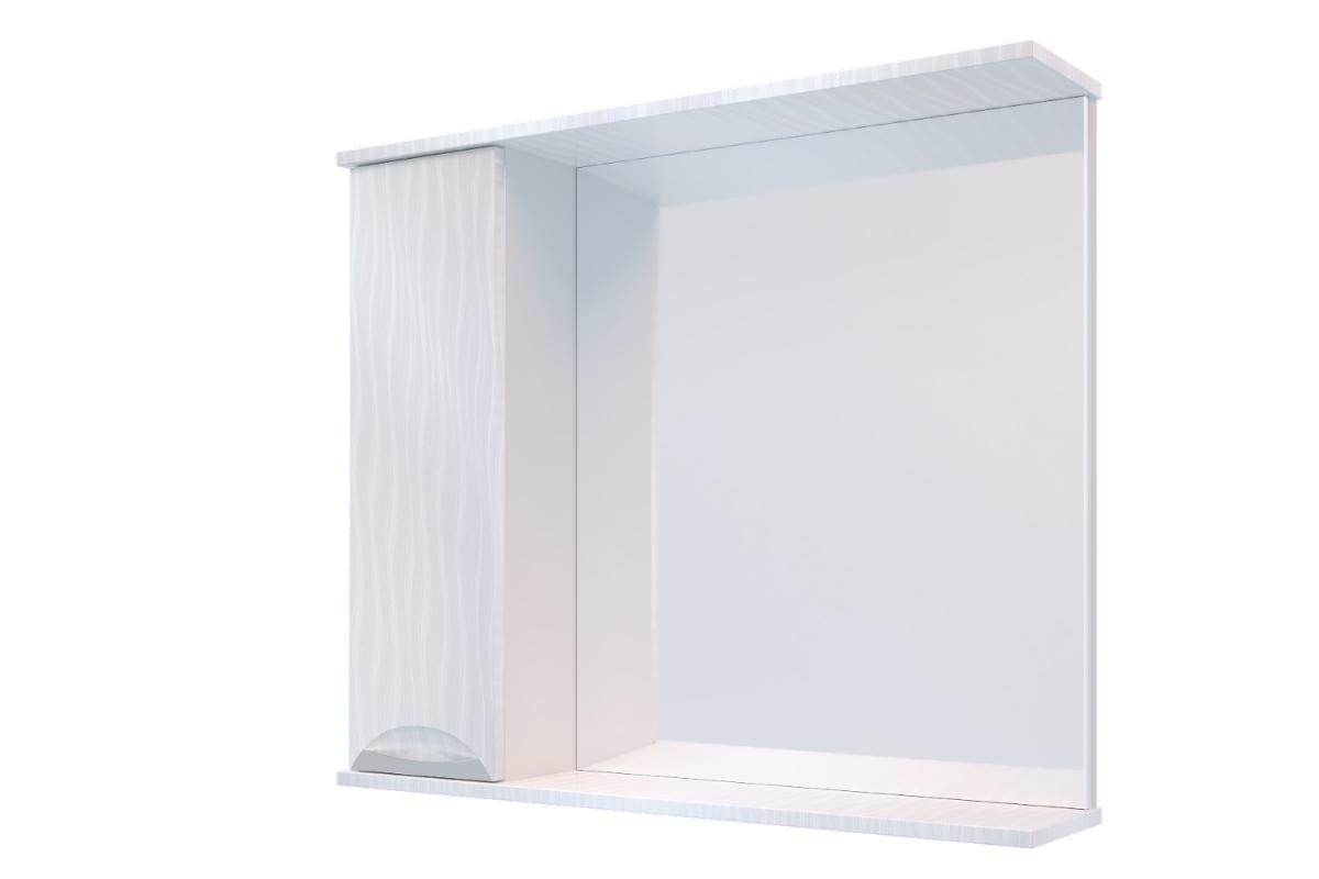 """Навесной шкаф """"Верона"""" 1 Дверь + Зеркало 500 мм Белый бархат"""