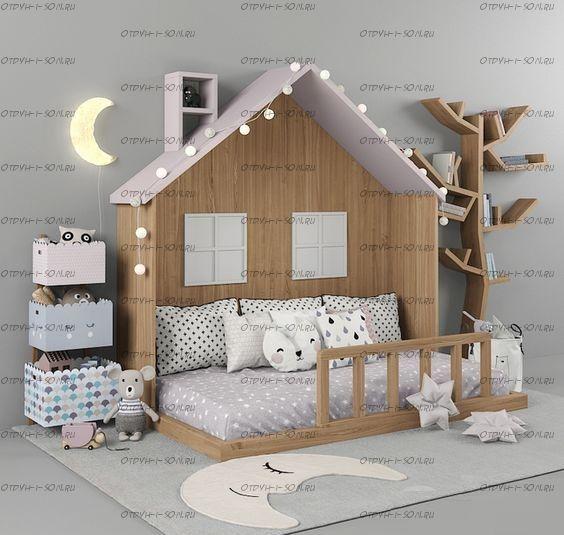 Кровать Домик для девочки Butterfky №IR5 (любые размеры)