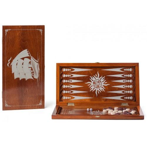 Нарды деревянные Фрегат 146-17 48x48см