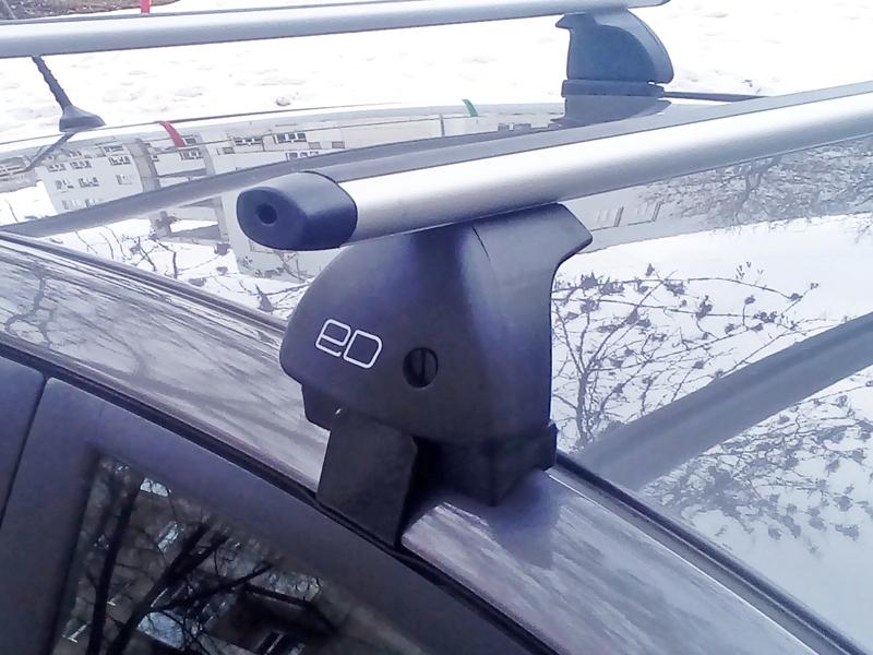 Багажник на крышу Daewoo Matiz, Евродеталь, аэродинамические дуги