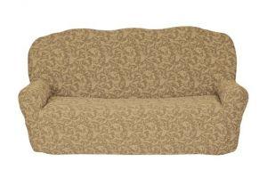Чехол на 3х-местный диван без оборки , KAR 013-08 A.Bej