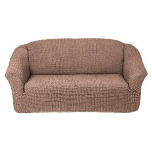 Чехол на 3х-местный диван без оборки,Кофейный