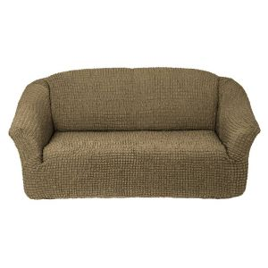 Чехол на 3х-местный диван без оборки,темно-оливковый