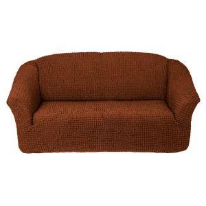 Чехол на 3х-местный диван без оборки,темно-рыжий