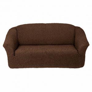 Чехол на 3х-местный диван без оборки,шоколадный