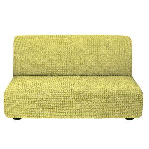 Чехол на диван без подлокотников молодая зелень