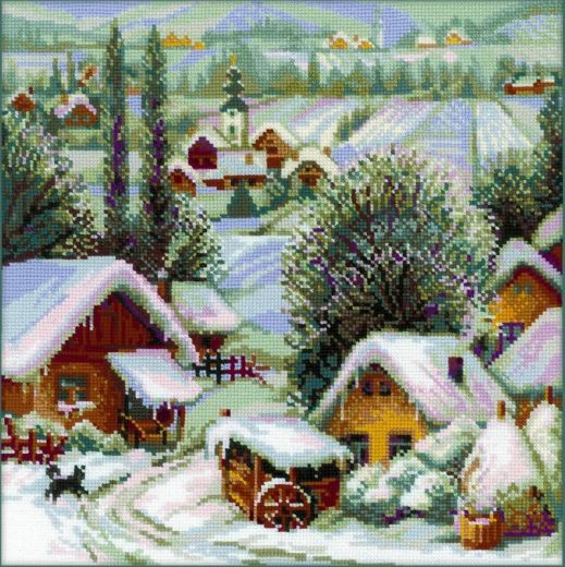 Набор для вышивания крестом Сербское село № 1670 фирма Риолис