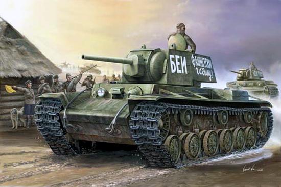 Танк  КВ-1 модель 1941 г. (1:35)
