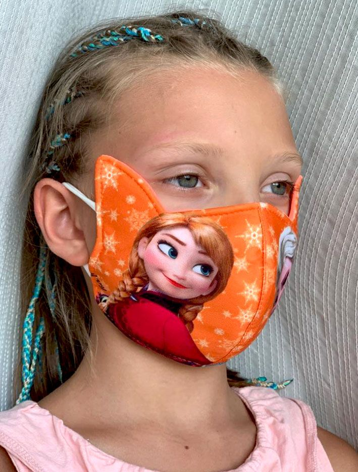 Трёхслойная маска Холодное сердце на девочек и девушек (Москва)