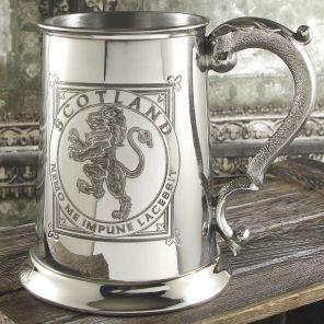 """Кельтский зеркальный Танкард (пивная кружка) - """"Геральдический Лев на Щите"""" -1 Pint Lion Rampant Tankard"""