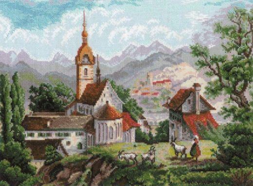 Набор для вышивания крестом Монастырь Шоненверт № 1701 фирма Риолис