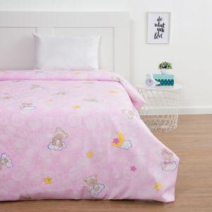 Пододеяльник Экономь и Я «Мишки», цвет розовый, 147х210 см (±3 см), бязь