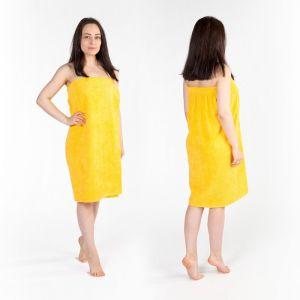 Килт(юбка) женский махровый, 80х150+-2, цвет жёлтый