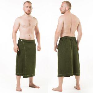 Килт(юбка) муж. махр. арт:КТР-1. 70Х150 темно-зеленый, трикотаж, 190г/м, хл80%, пэ20%   2580976