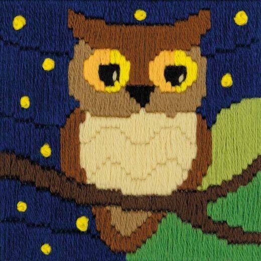 Набор для вышивания крестом Сова среди звезд № 1715 фирма Риолис