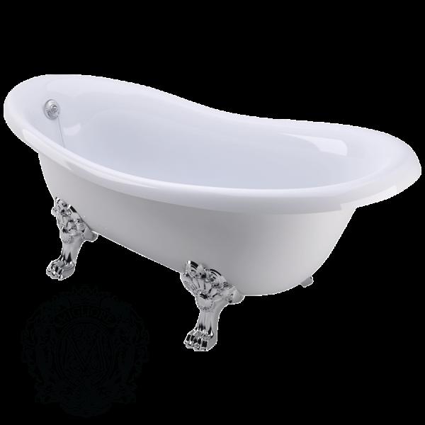 Ванна из литьевого мрамора Migliore BELLA 24624 на лапах Migliore ФОТО