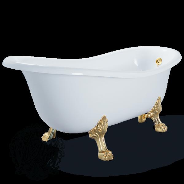 Ванна из литьевого мрамора Migliore BELLA 24625 на лапах Migliore ФОТО