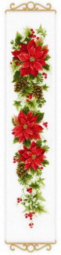 Набор для вышивания крестом Пуансеттия №1729 фирма Риолис