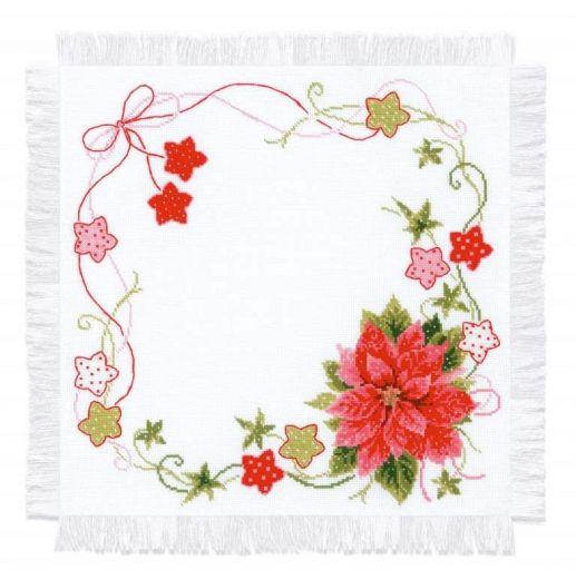 Набор для вышивания крестом Салфетка Рождественская №1752 фирма Риолис
