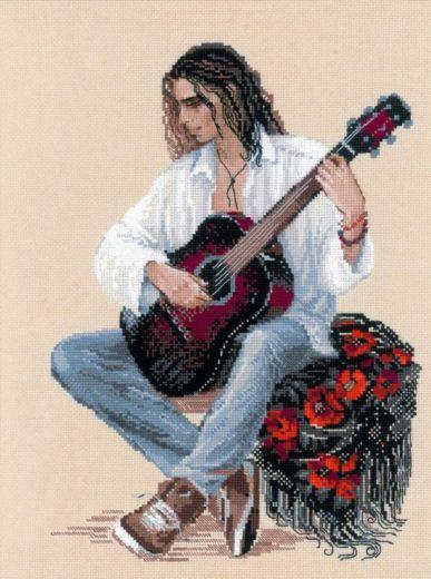 Набор для вышивания крестом Гитарист №1766 фирма Риолис