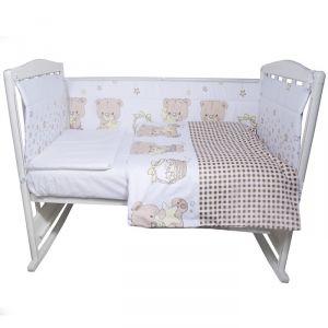 Комплект в кроватку «Мечтатели», 4 предмета, цвет бежевый, сатин