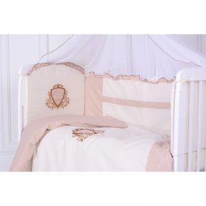 Комплект в кроватку Ричард, цвет серый, 7 предметов,сатин, хл100%, на резинке   4644758