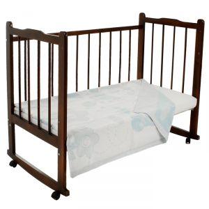 Одеяло жаккардовое «Букашки», размер 100х140 см, белый/голубой, рап МИКС