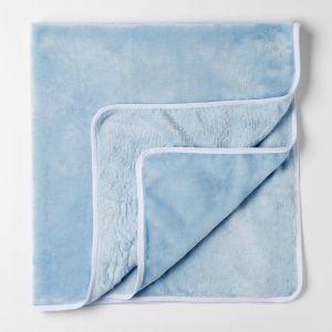 Плед детский  нежно голубой 90х100см, велсофт 260г/м пэ100%   4562665