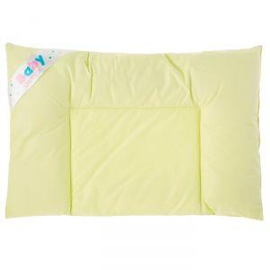 Подушка плоская OL-tex для новорожденных 40x60 см, микроволокно, тик фисташка, хлопок 2785367