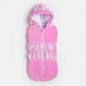Кокон для новорождённого, цвет розовый