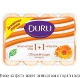 """DURU (1+1) экопак.Туалетное мыло """"Календула"""" 4*90г, шт"""