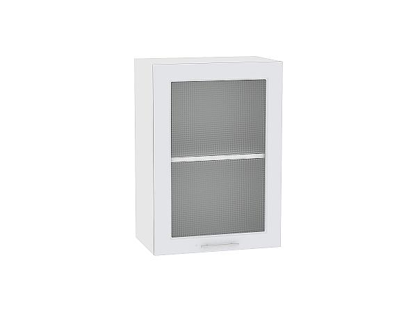 Шкаф верхний Ницца Royal В500 со стеклом (Blanco)
