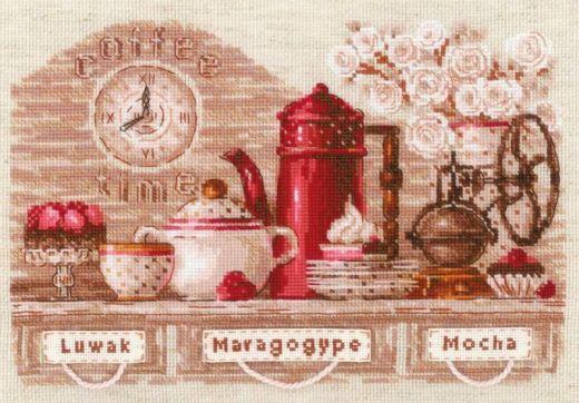 Набор для вышивания крестом Coffee Time №1874 фирма Риолис