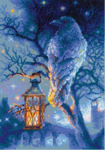 Набор для вышивания крестом Мудрый ворон №1876 фирма Риолис