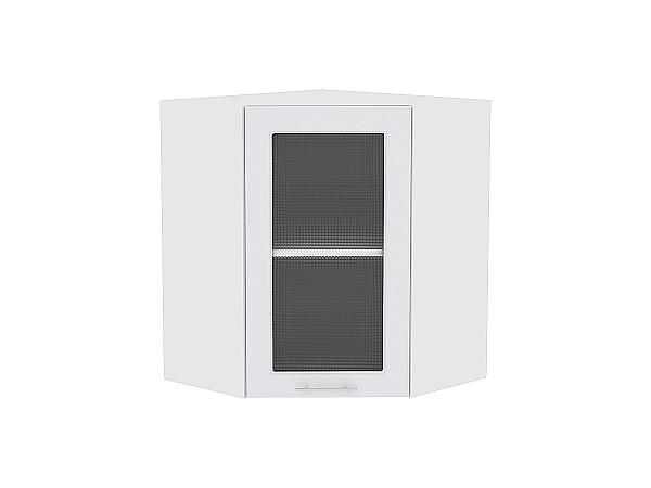 Шкаф верхний угловой Ницца Royal ВУ590 со стеклом (Blanco)