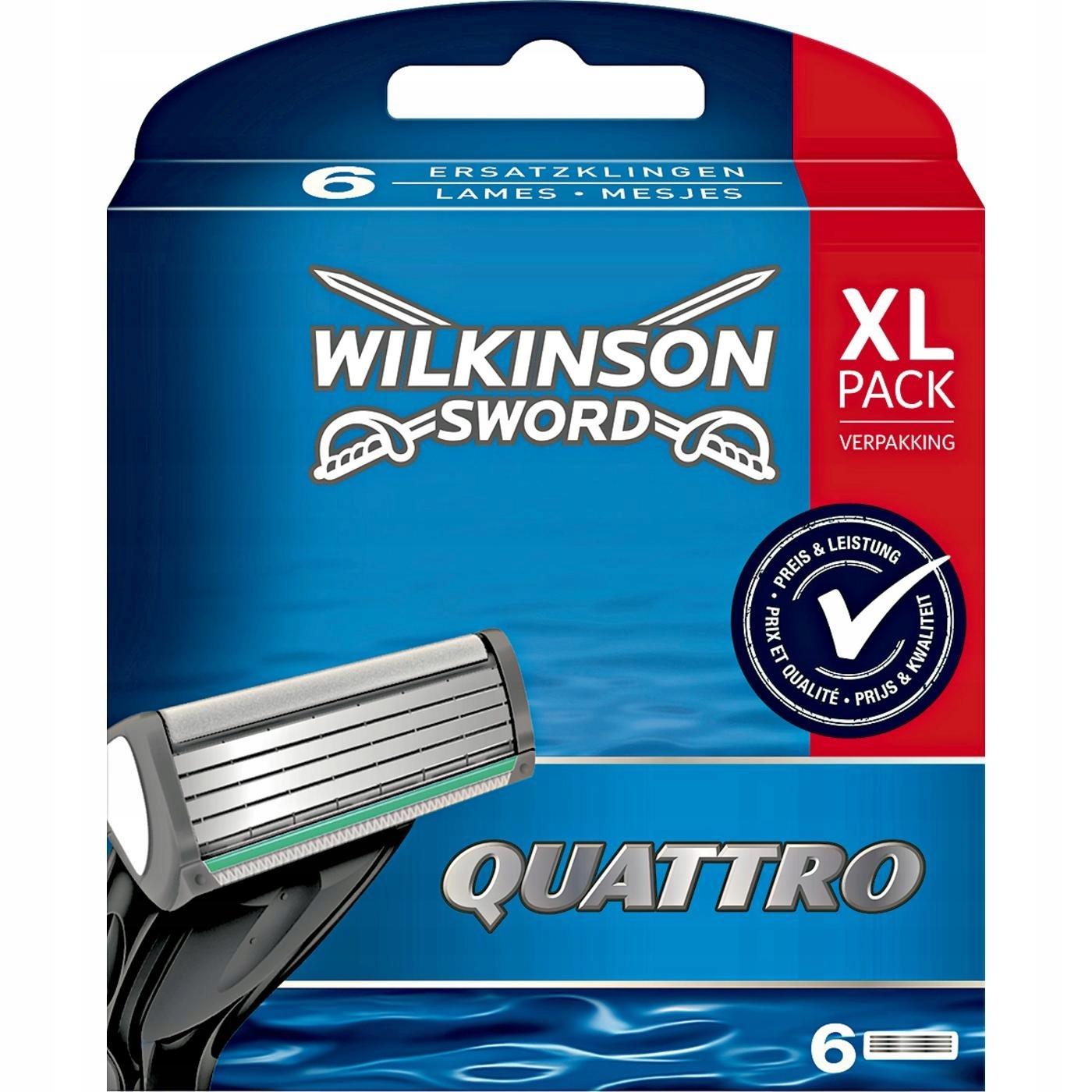 Schick / Wilkinson Sword Quattro сменные кассеты (6 шт)