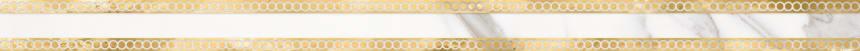 1506-0420 Бордюр настенный Миланезе Дизайн 3,6х60 римский каррара