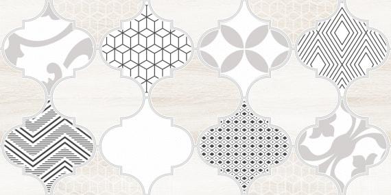 1641-8625 Настенная плитка декор Мореска 20х40 бежевая