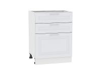 Шкаф нижний с 3-мя ящиками Ницца Royal Н603 в цвете Blanco