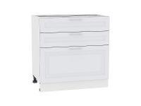 Шкаф нижний с 3-мя ящиками Ницца Royal Н803 в цвете Blanco
