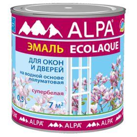 Экоэмаль для Окон и Дверей Ecolaque 0.5л Alpa