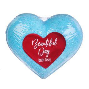 """Шипучее сердце """"Beautiful day""""для ванной 130 г (голубое  )"""