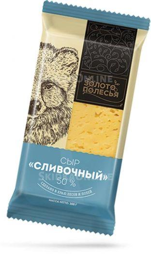 Сыр Сливочный 50% 200г Золото Пущи