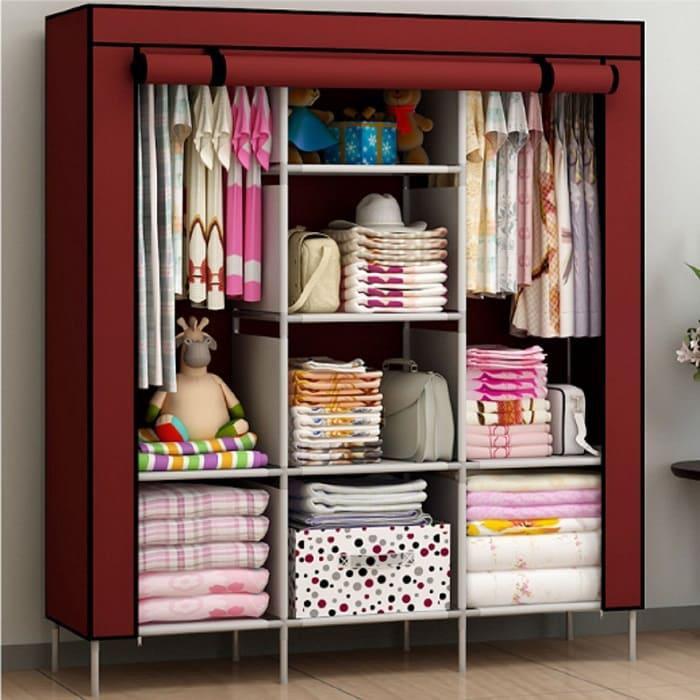 Мобильный тканевый шкаф Storage Wardrobe