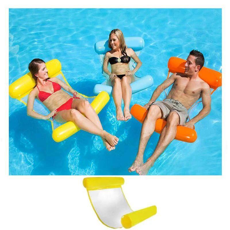 Надувной Шезлонг Для Плавания Floating Bed, 130х73 См, Цвет Желтый