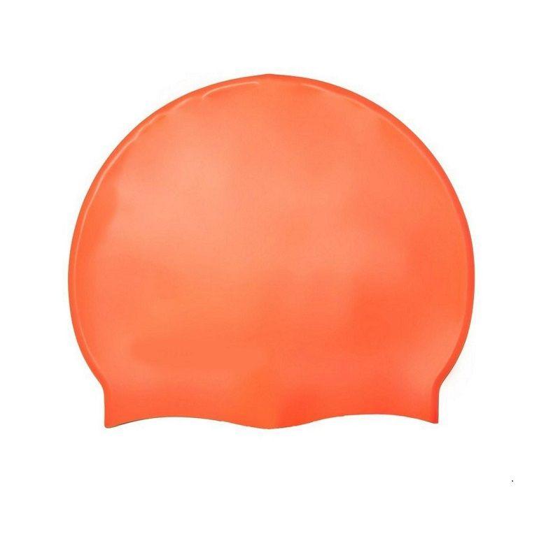 Силиконовая Шапочка Для Плавания Afiter, Цвет Оранжевый