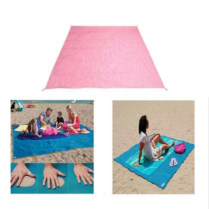 Пляжный коврик Антипесок 200х150См Цвет Розовый